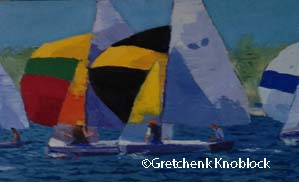 Chubb national sailboat race painting held in Traverse City 2016