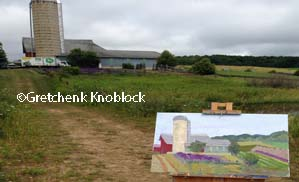 lavendar farm painting near lake charlevoix near boyne city