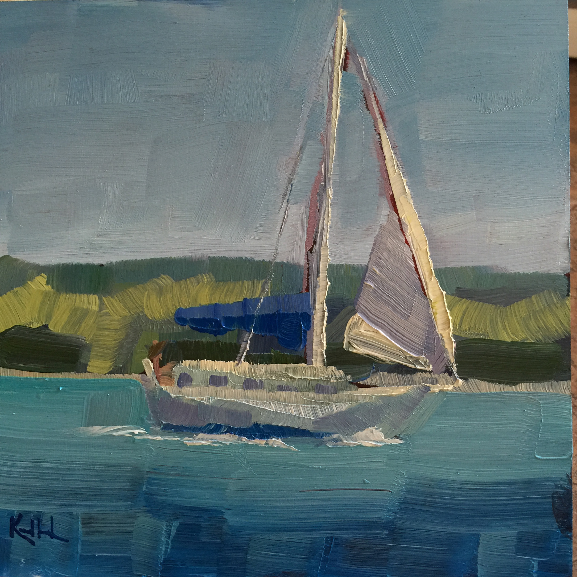 sailboat painting in traverse city
